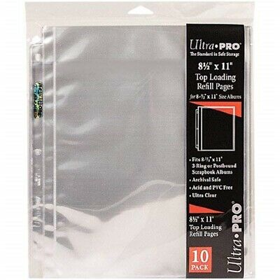 "Ultra Pro 8.5""x11"" Refill Pages -20 Pockets - Pkg"