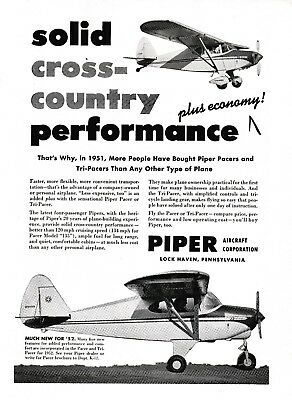 1951 PIPER PACER & Tri Pacer Aircraft ad 10/3/18h