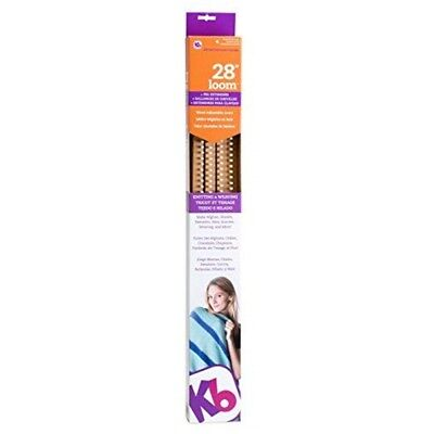 Authentic Knitting Board With Peg Extenders, 28-inch - Kb Loom Extenders Create