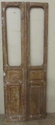 Antique Pair Mexican Old-Vintage-Primitive-Rustic-31x86-Barn Doors-Tall