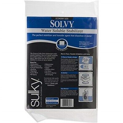 Sulky Solvy Water Soluble Fabric Stabilizer, 19-1/2-inch By 3-yard - Inch Yd