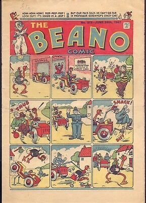 The Beano No 312 June 28th 1947 Big Eggo on front  (PC1)