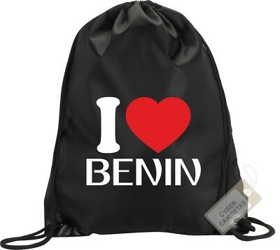 I Love Benin Mochila Bolsa Gimnasio Saco Backpack Bag Gym Benin Sport
