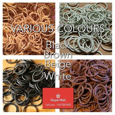 100 Rubber Dreadlock Dread Braiding Bands Synthetic Dreads High Quality Fast P&p