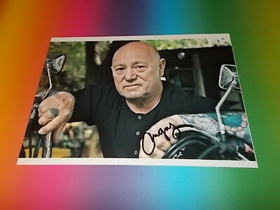 """Gary """"Angry"""" Anderson Rose Tattoo  signed signiert Autogramm 20x28 Foto in pers."""