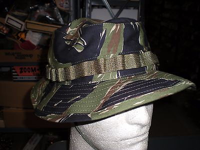 c5355b84cfb US TIGER STRIPE BOONIE CAP Jungle Camo - All Sizes Military Army ...