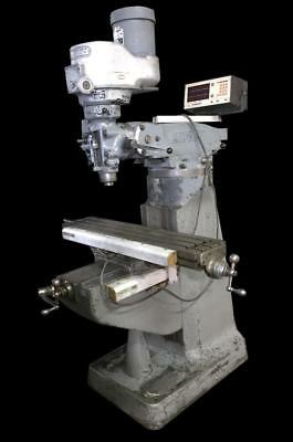 "Bridgeport Milling Machine Variable Speed, 42"" X 9"" Table, Dro, 1.5 Hp, 230/460V"