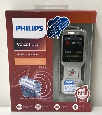 Philips DVT4010 VoiceTracer Audio Recorder for Notes & Conversations