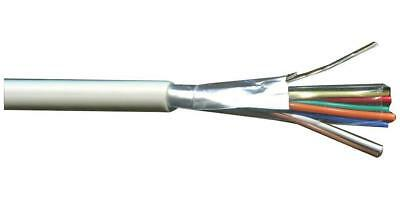 8-Core Screened Alarm Cable, 0.22m², White - PRO POWER