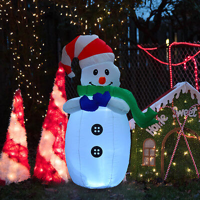 Large Inflatable Snowman LEDs Inflator for Outdoor Christmas Decor