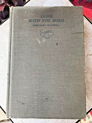 GONE WITH THE WIND Margaret Mitchell 1st Edition October 1936 Printing Hardcover