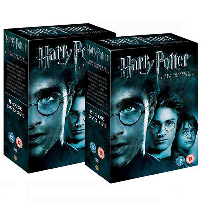 Harry Potter Complete 1-8 The Sealed and Box Set DVD Region 2 UK Free Postage