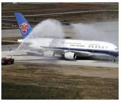 Postcard - Aviation - A380 Airbus China Southern Airlines
