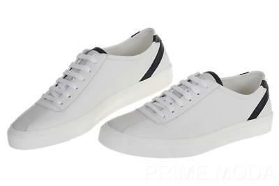 4254acb52ff New Gucci Men s White Leather Logo Low Top Trainers Sneakers Shoes 7.5 G us  8.5