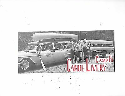 1960's Camp Hi Canoe Livery Brochure Hiram Ohio Great Car Photo