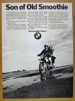 1970 BMW /5 Motorcycle photo 'Son of Old Smoothie' vintage print Ad