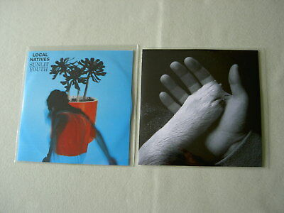 LOCAL NATIVES/JAWS OF LOVE job lot of 2 promo CDs Sunlit Youth