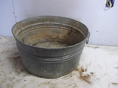 Rough Old Metal Laundry Tub  for  Flower Pot Garden Planter