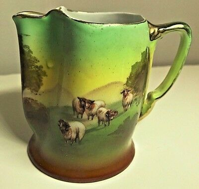 Antique Royal Bayreuth Pastoral Rams Sheep Porcelain Creamer