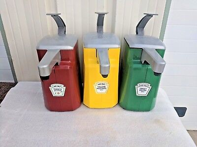 3 New w/ Defect Heinz 1.5 Gallon Condiment Dispensers Commercial Ketchup Mustard