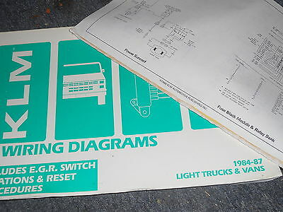 1984 – 1987 isuzu pickup truck wiring diagrams manual sheets set