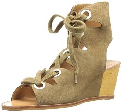 3f2226da1538 DOLCE VITA WOMEN S Lei Wedge Sandal Taupe Cow Suede Size 8.5 M ...