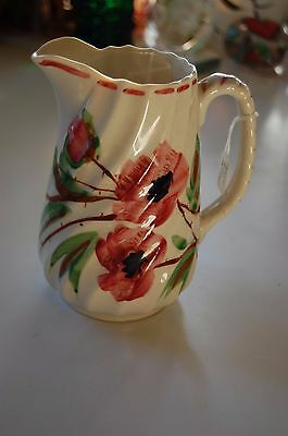 Blue Ridge Southern  Potteries  Hand  Painted Floral  Pitcher   Wow!!!!
