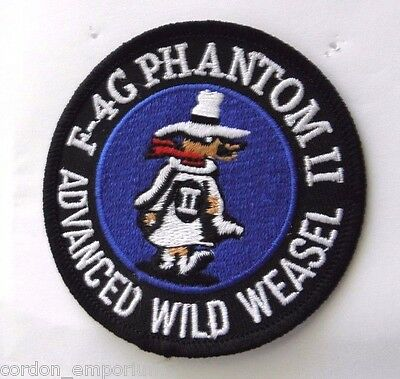 Wild Weasel Usaf Mcdonnell Douglas F-4 Phantom Ii Embroidered Patch 3 Inches