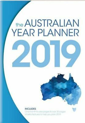 NEW The Australian Year Planner 2019 Diary, Journal or Blank Book Free Shipping