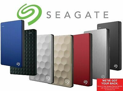 "Seagate 2TB 4TB 5TB 10TB 2.5"" 3.5"" External Hard Drive Portable HDD USB Back Up"