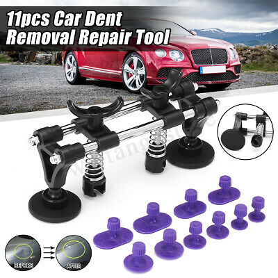 Car Paintless Dent Repair Dint Hail Damage Remover Puller Lifter 11 Tab Tool Kit