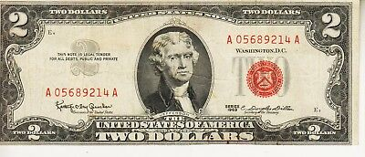 1963    Two Dollar Red Seal  GOOD
