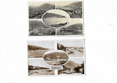 Scotland Lochranza Isle of Arran 2 Multiview Real Photo Vintage Postcards 25.7