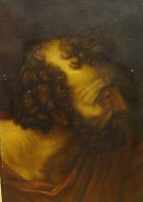 17th Century Italian Old Master Head Of Saint / Philosopher Man Portrait