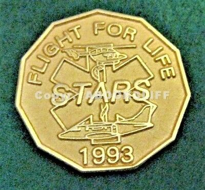 EMS AIR AMBULANCE MEDICAL HELICOPTER 1993 STARS Western Canada Lapel Pin Mint