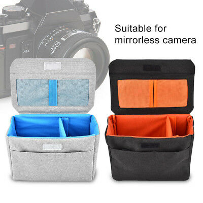 Insert Padded Mirrorless Camera Bag Inner Divider Partition Fold Protect Pouch D
