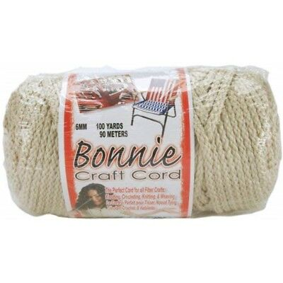 Pepperell Polyolefin Fiber Bonnie Macrame Craft Cord 6 Mmx 100 Yard-pearl -