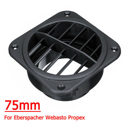 75mm Car Heater Ducting Air Vent Outlet Rotating For Eberspacher Webasto Propex