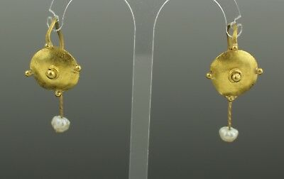 FABULOUS ANCIENT ROMAN GOLD EARRINGS - CIRCA - 2nd Century AD 003