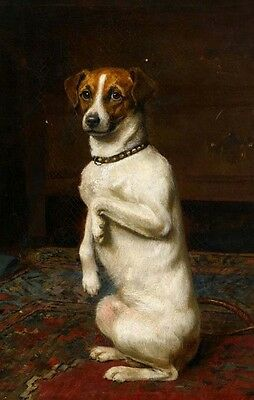 """perfact 24x36 oil painting handpainted on canvas """"a lovely dog""""@NO5406"""