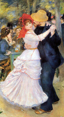 """perfect 24x36 oil painting handpainted on canvas""""Dance at Bougival""""@N4783"""