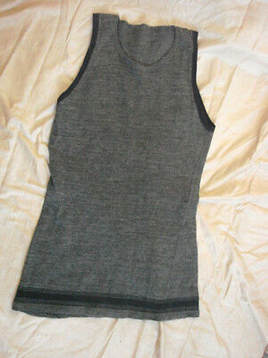 Vintage 20s Mens Wool Bathing Suit Tank Top Shirt Gray 34 VGC Athletic Sport