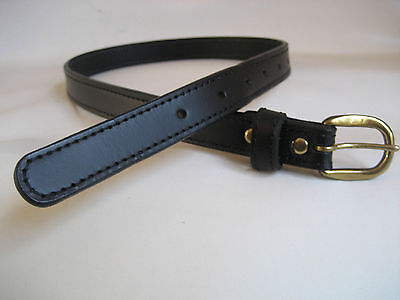 Genuine Black Leather Kids/Childrens Belt