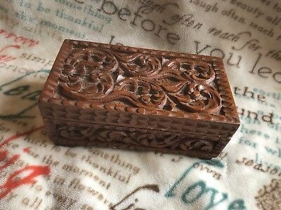 Hand Carved African Jewelry Box