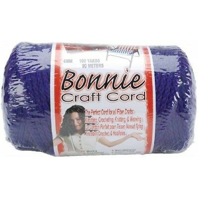 Pepperell Polyolefin Fiber Bonnie Macrame Craft Cord 6 Mmx 100 Yard-purple -