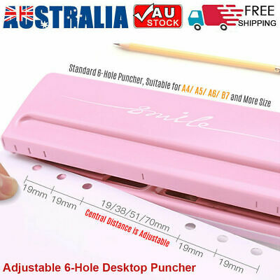 KW-trio Desktop Paper Hole Puncher for A4 A5 A6 B7 Dairy Planner Organizer I7U7