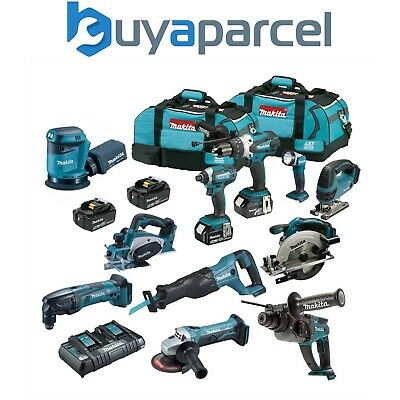 Makita DLX 18v LXT 11 Piece Power Tool Kit - 4 x 5.0ah Batteries 2 Bags