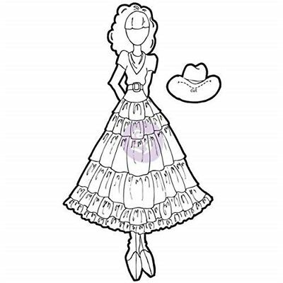 Prima Marketing Julie Nutting Mixed Media Cling Rubber Stamps-annie - Annie