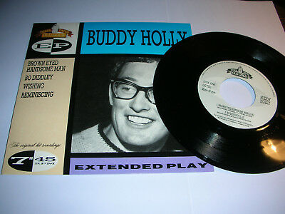 BUDDY HOLLY - BROWN EYED HANDSOME MAN / BO DIDDLEY + 2 MORE-4 TRACK (45rpm) E.P