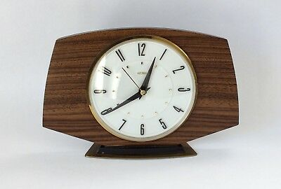 Vintage Retro Metamec  Mantle Clock made in England Mid Century Quartz